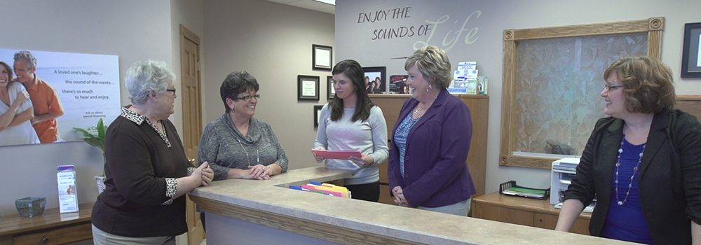 Greeting Customers, Findlay Hearing Aid Center
